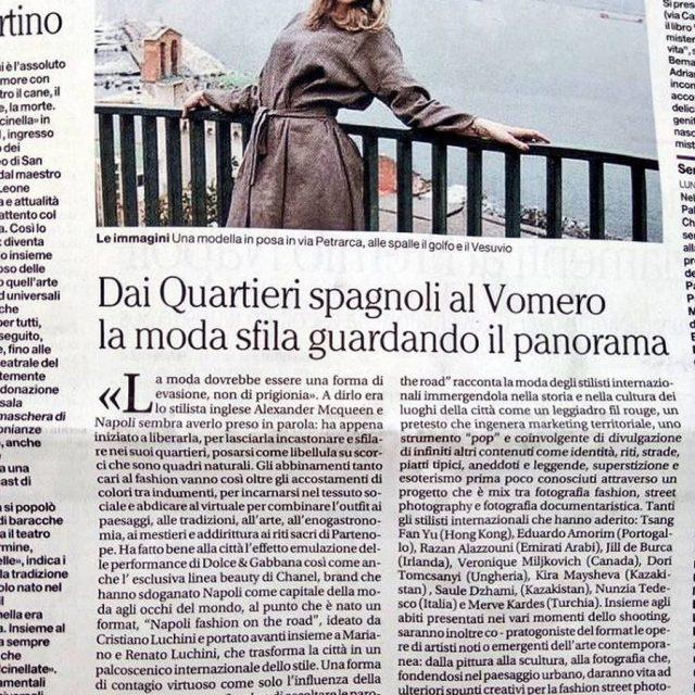 napoli napolifashion napolifashionontheroad moda models stilyst cultura territorio campania ilmattino