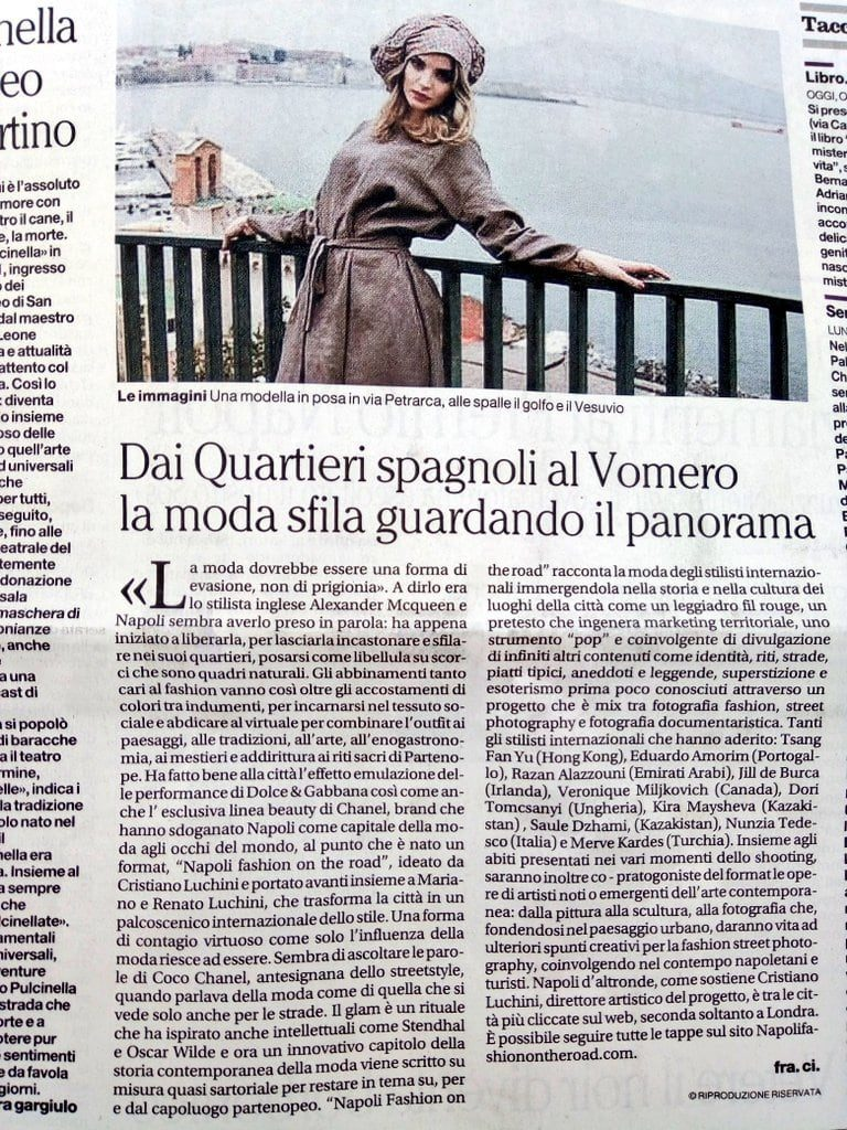 Napoli fashion on the road - Il mattino - Napoli capitale della moda-1