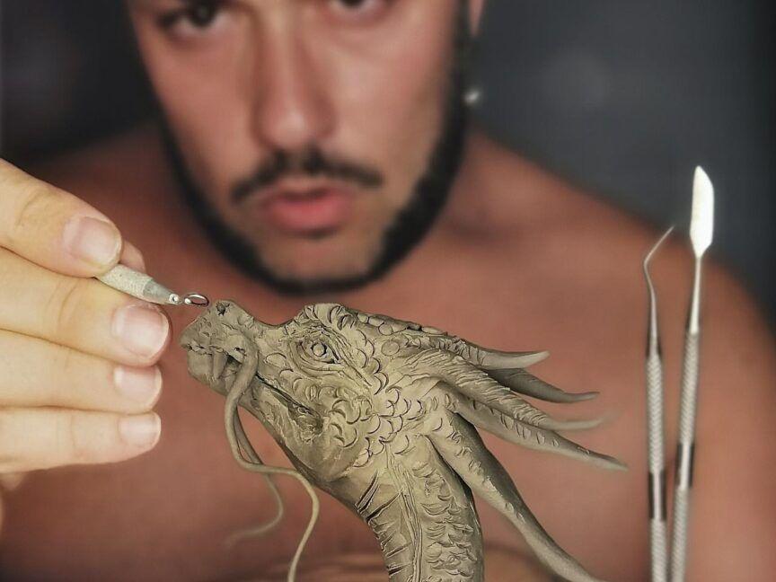 sculture di draghi - umberto pulignano-1
